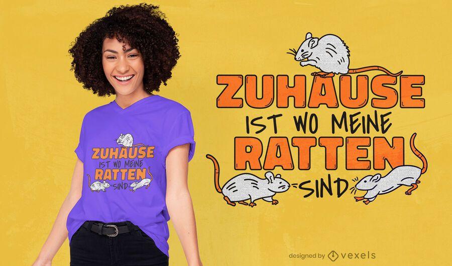 Ratten deutsches Zitat T-Shirt Design