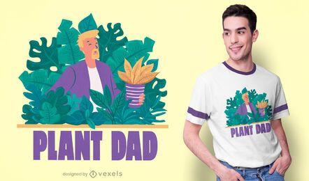 Design de t-shirt do pai de planta