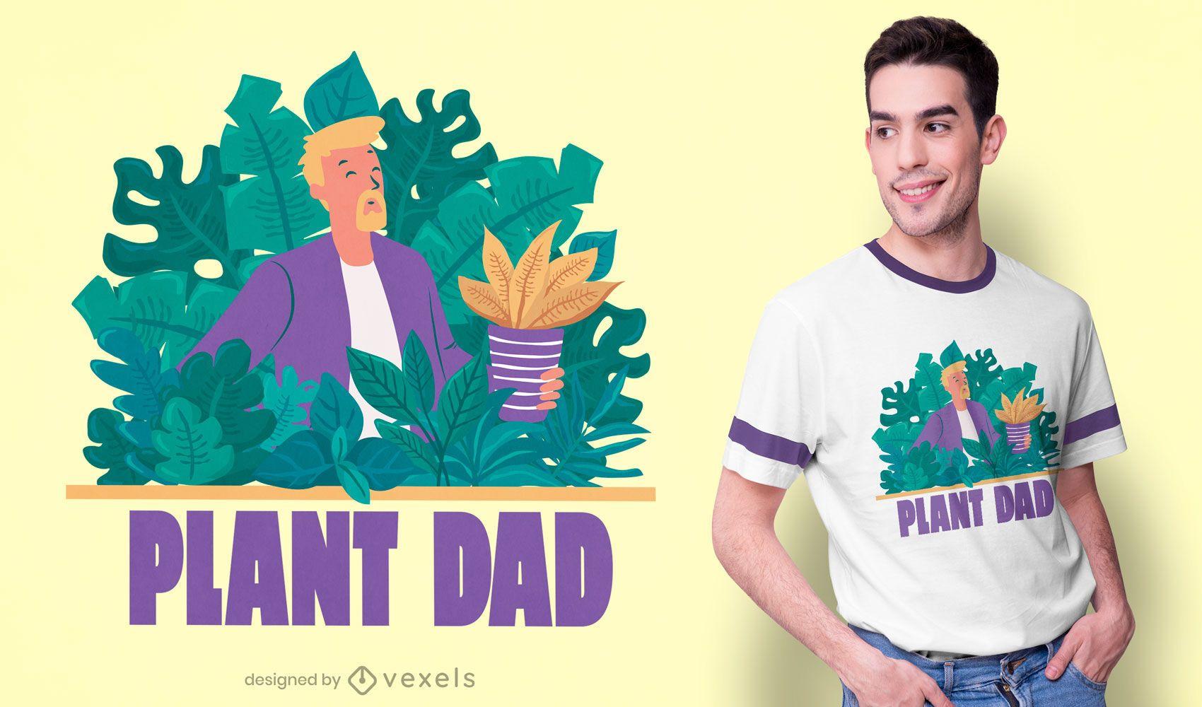 Plant dad t-shirt design