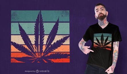 Design retrô de camiseta cannabis