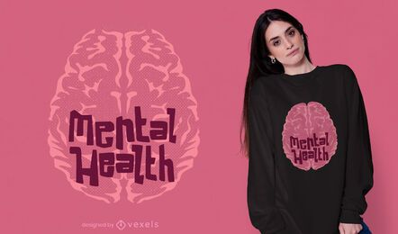 Design de camisetas de saúde mental