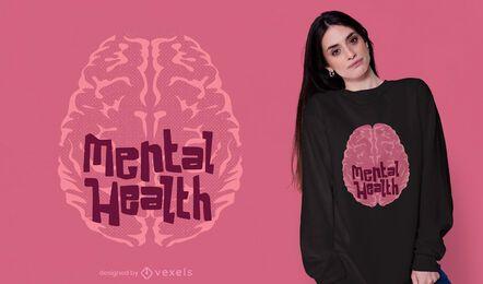 Diseño de camiseta de salud mental.