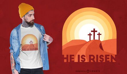 He is risen t-shirt design
