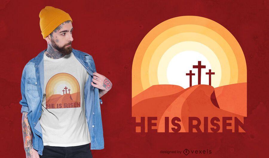 He is risen t-shirt design
