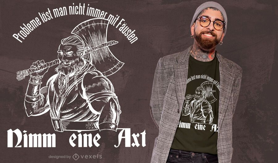 Take an axe t-shirt design