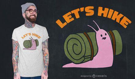 Vamos caminhar com o design da camiseta de caracol