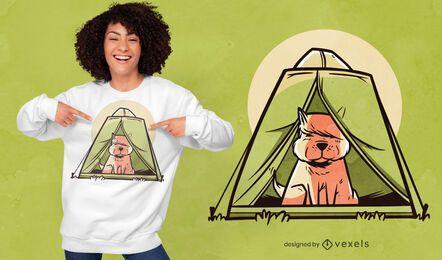 Hundezelt-T-Shirt Design