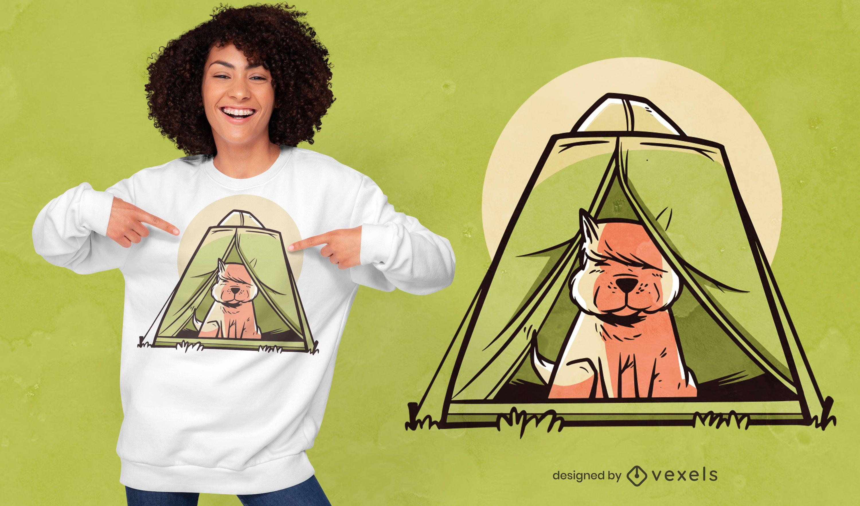 Diseño de camiseta de carpa para perros.
