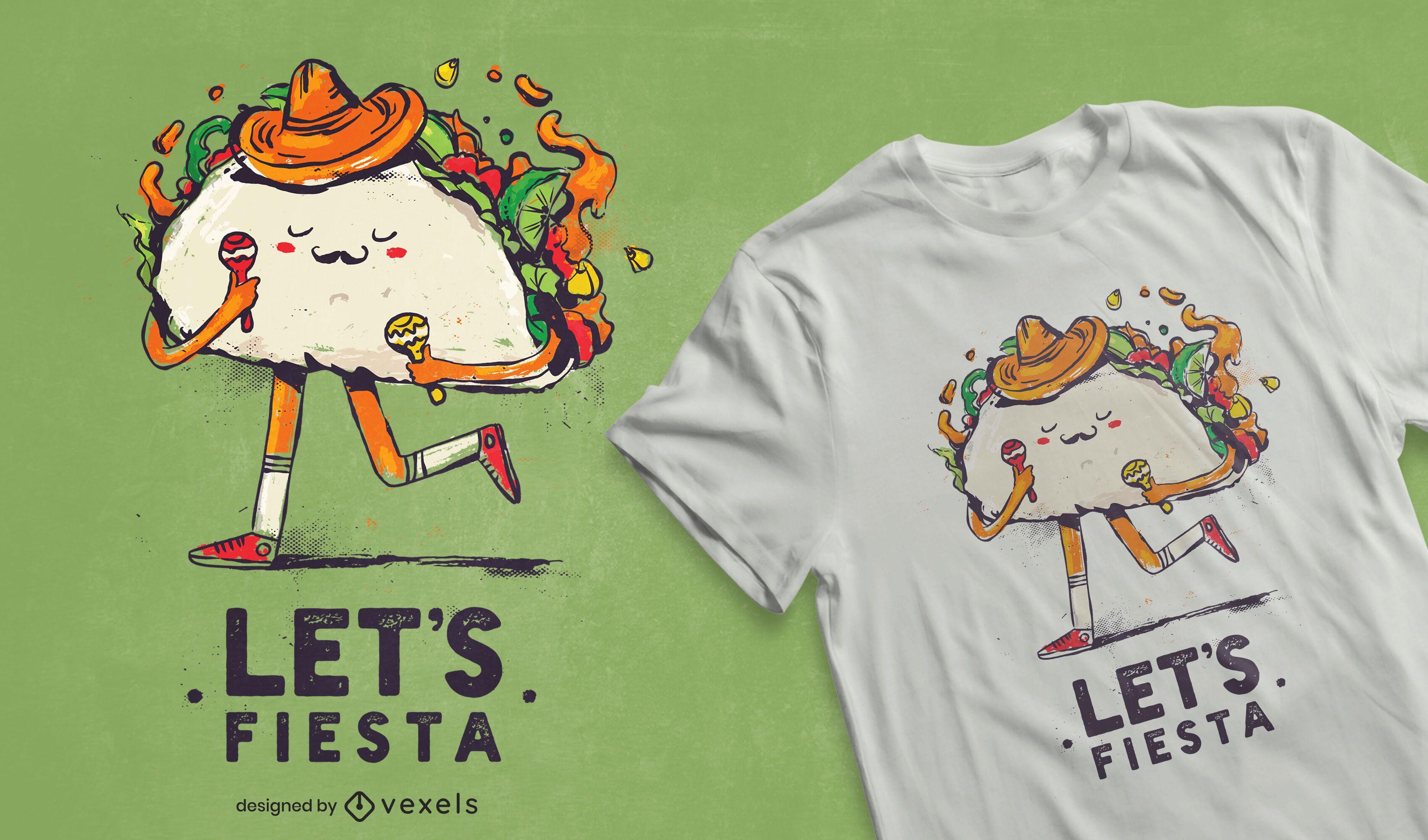 Diseño de camiseta Let's Fiesta