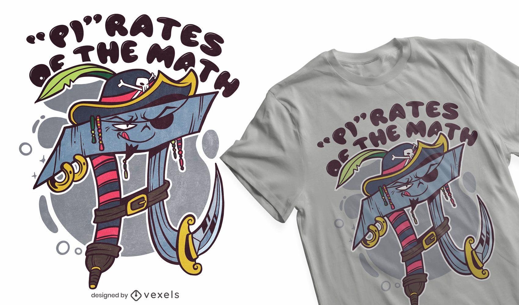 Pi rates t-shirt design
