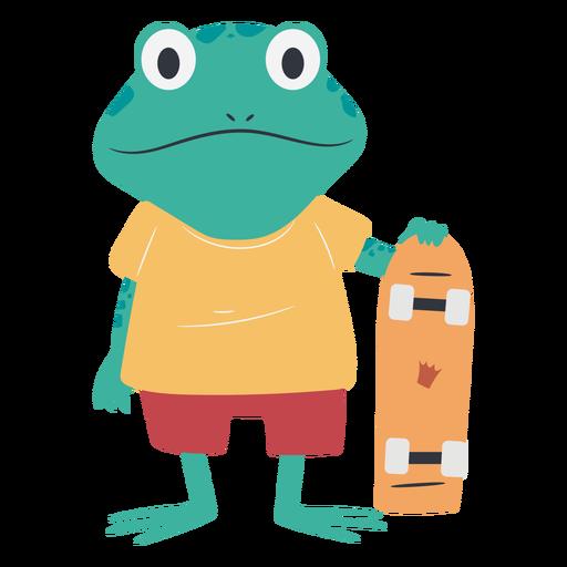 Skater frog character