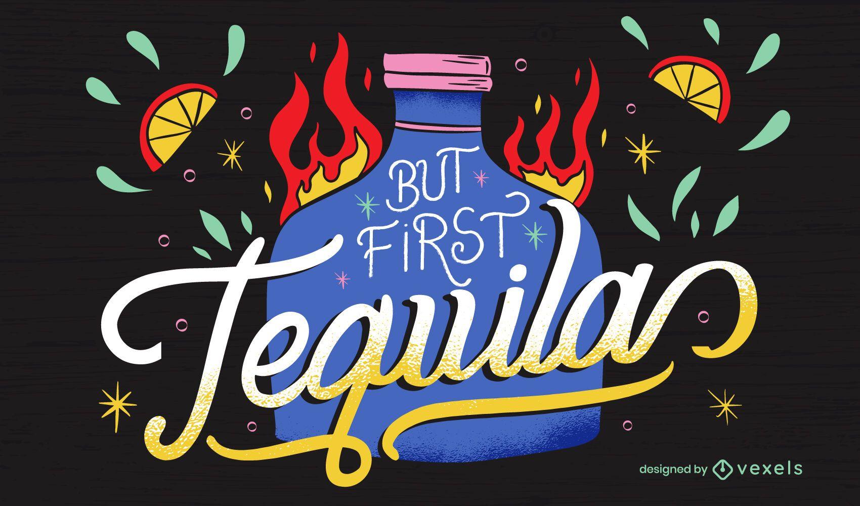 Cinco de Mayo Tequila Schriftzug
