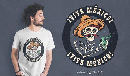 Diseño de camiseta viva mexico