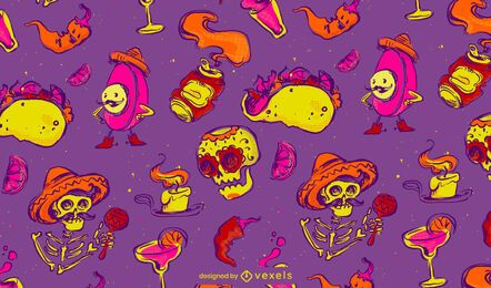 Cinco de mayo fun pattern design