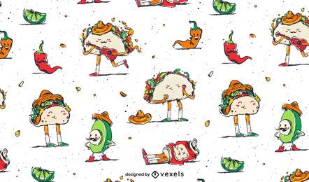 Cinco de mayo food pattern