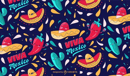 Cinco de mayo viva mexico pattern