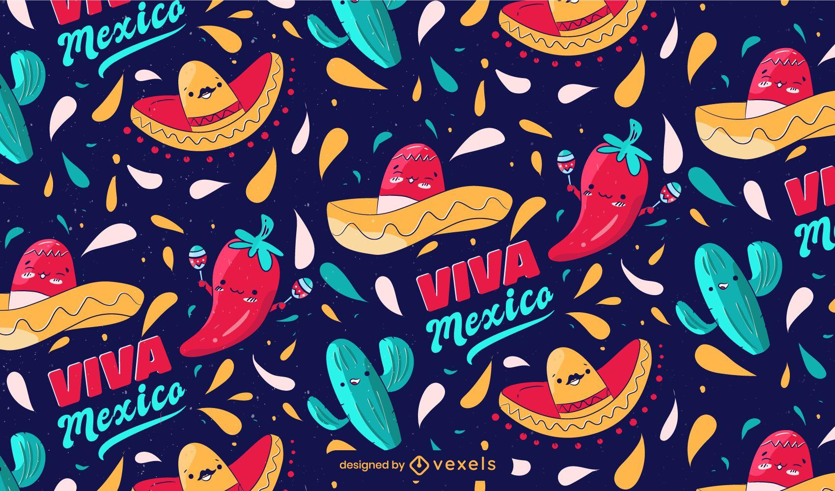 Cinco de mayo viva mexico pattern
