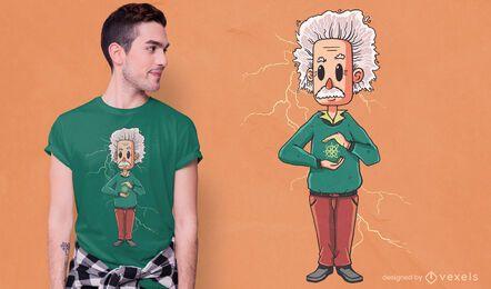 Diseño de camiseta de Albert Einstein