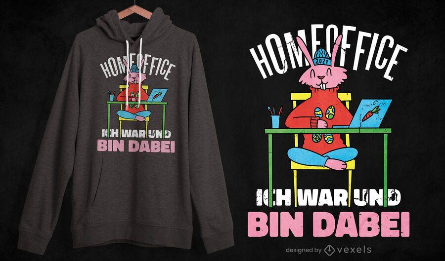 Home-Office-Hasen-T-Shirt-Design
