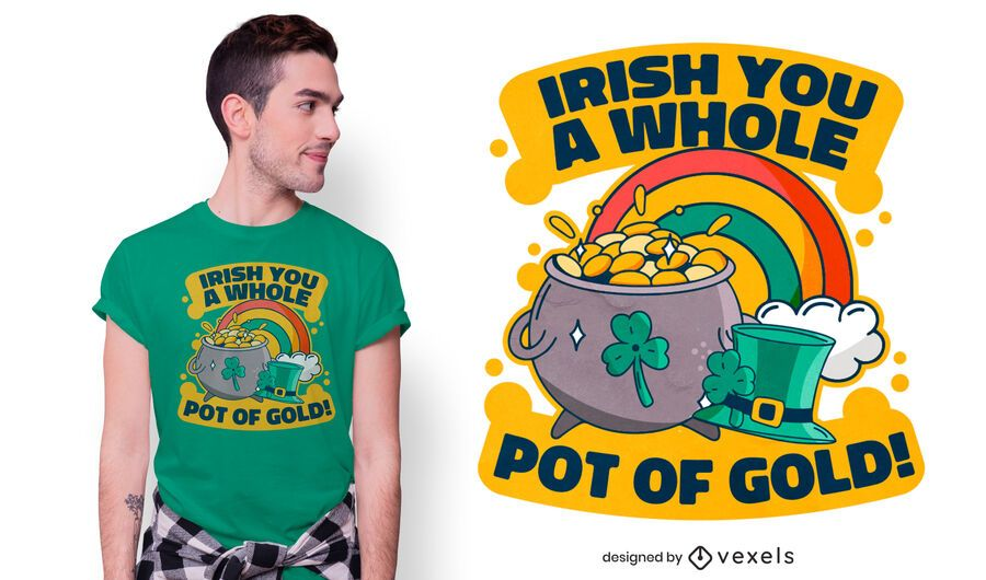 Pot of gold pun t-shirt design