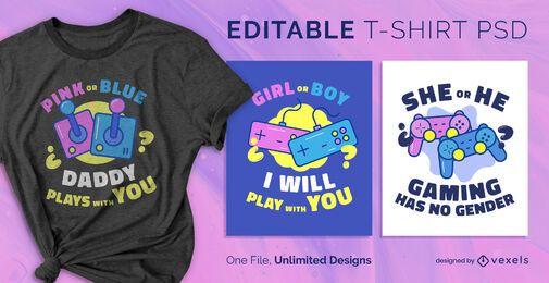 Camiseta psd escalable de género para juegos