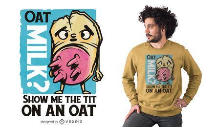 Oat milk t-shirt design