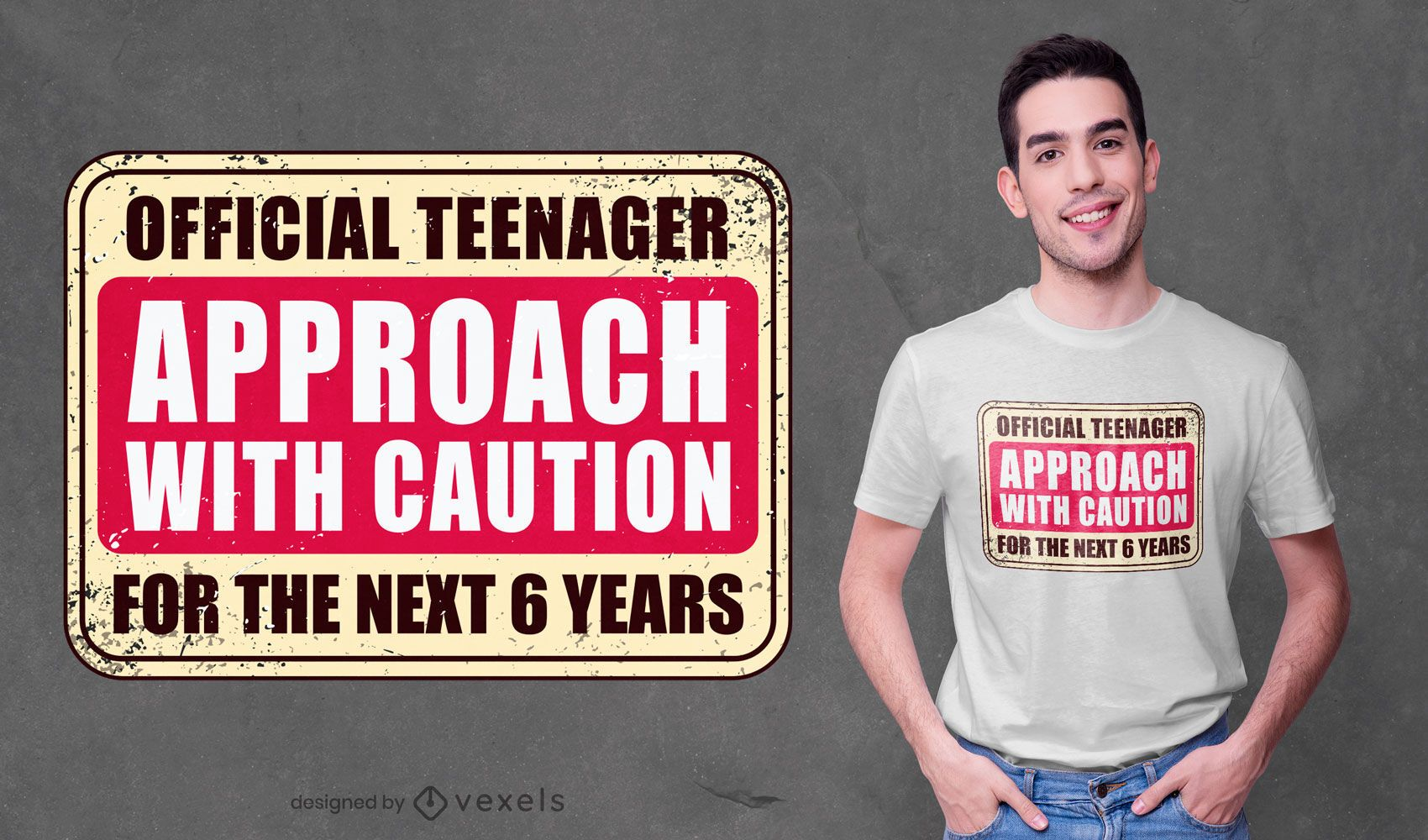 Diseño oficial de camiseta adolescente.