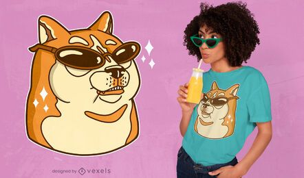 Doge sunglasses t-shirt design