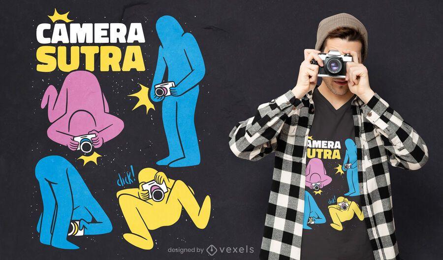 Diseño de camiseta camera sutra