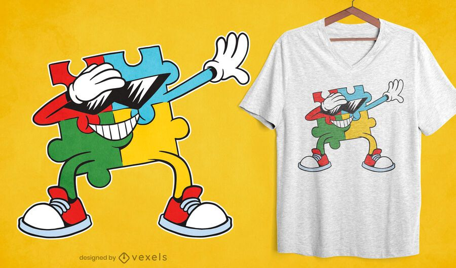 Tupfen Puzzle T-Shirt Design