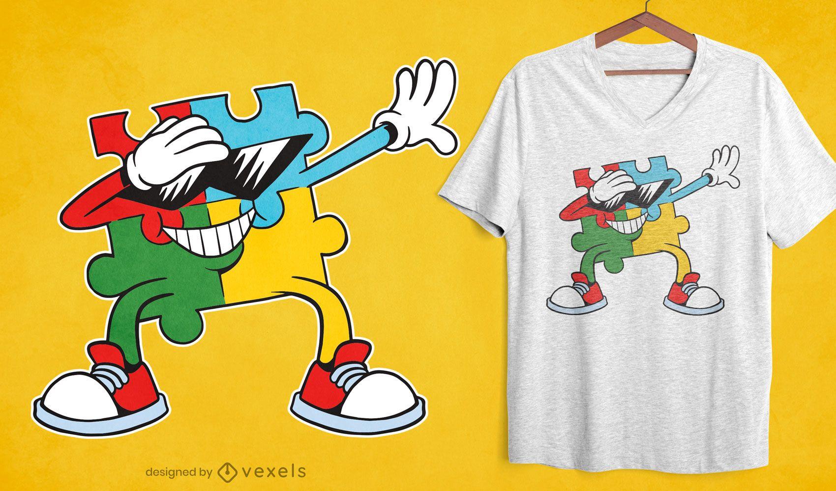 Dise?o de camiseta Dabbing Puzzle