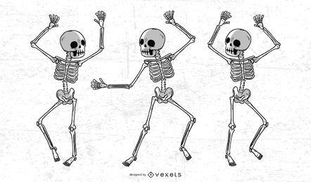 Esqueleto de mão desenhada