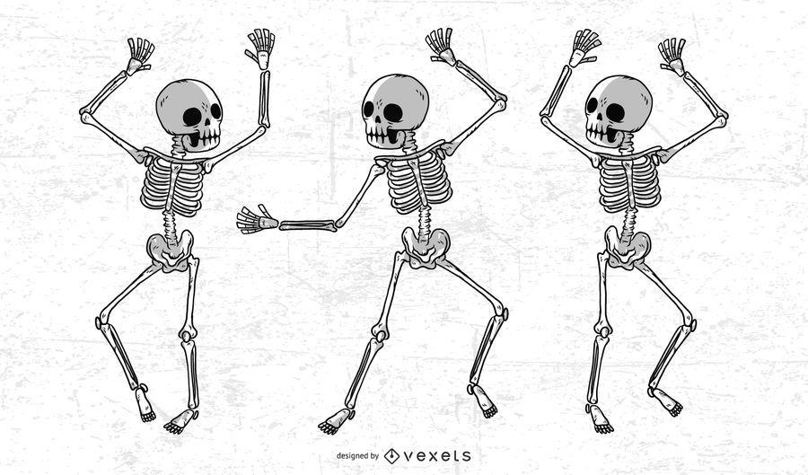 Esqueleto dibujado a mano