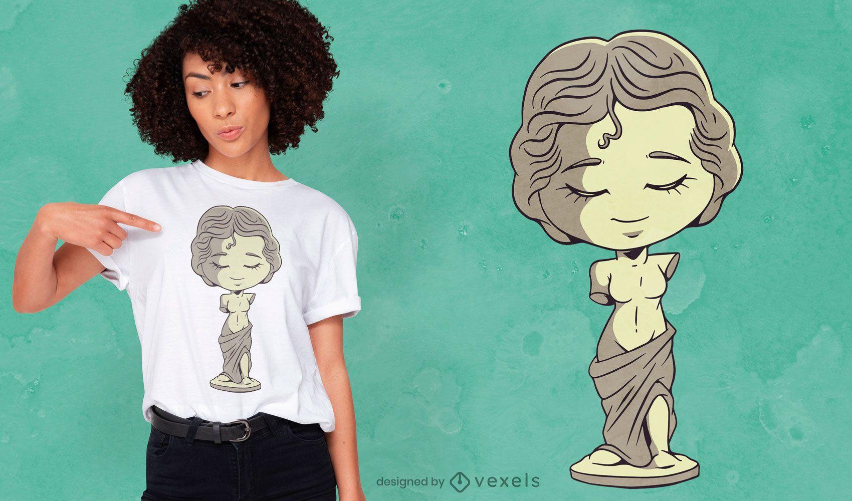 Diseño de camiseta Venus chibi