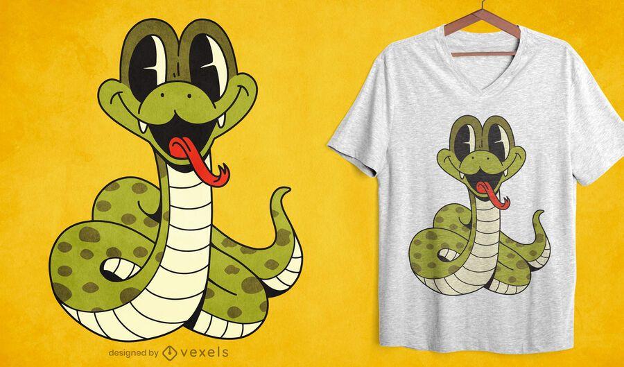 Babyschlangenkarikatur-T-Shirt Design