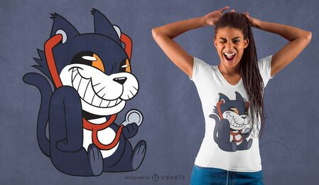Stethoskop Katze T-Shirt Design