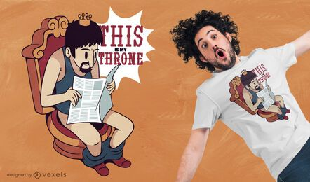 Toilet throne t-shirt design