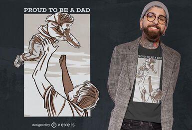 Diseño de camiseta de papá orgulloso