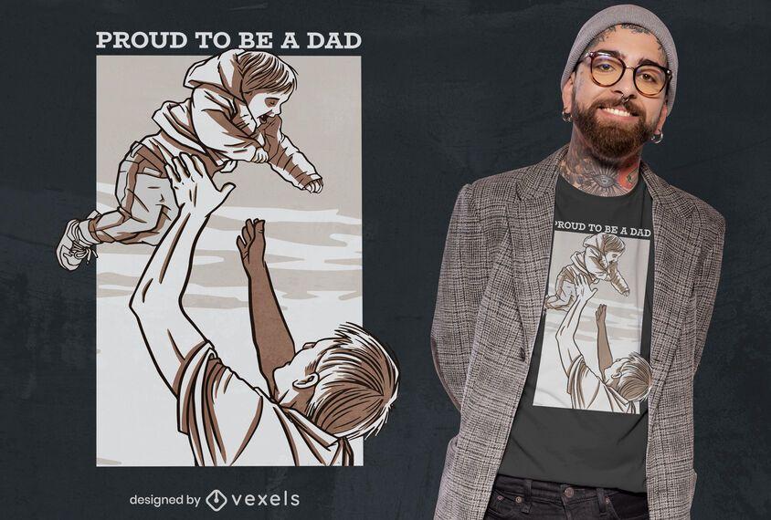 Stolze Papa T-Shirt Design