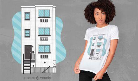 Diseño de camiseta de edificio de fraternidad