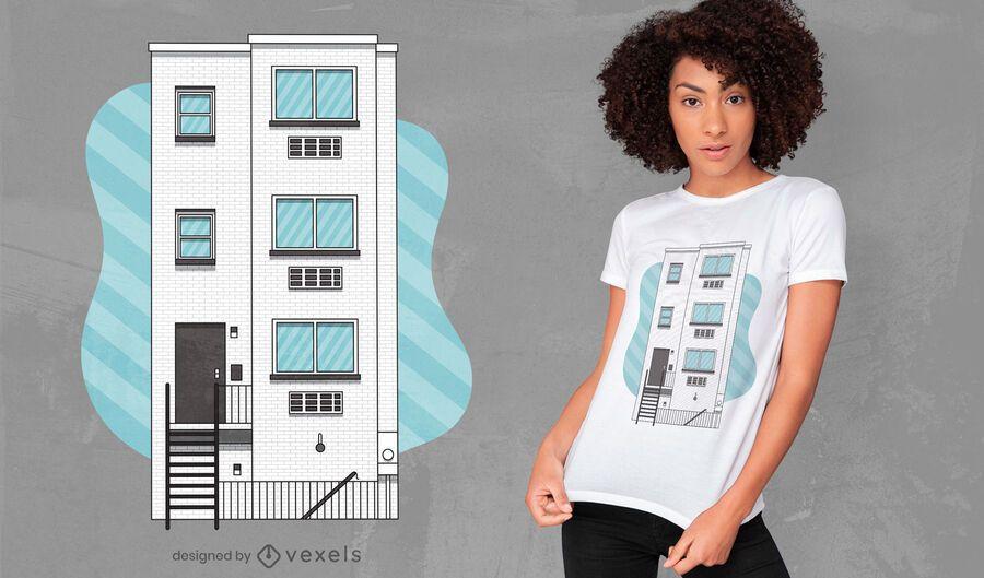 Frat building t-shirt design