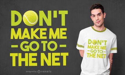 Diseño de camiseta de cita de tenis