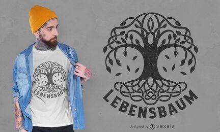 Diseño de camiseta Lebensbaum