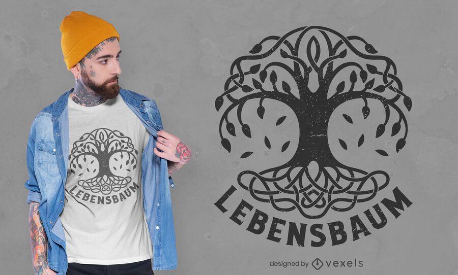 Design de camisetas Lebensbaum