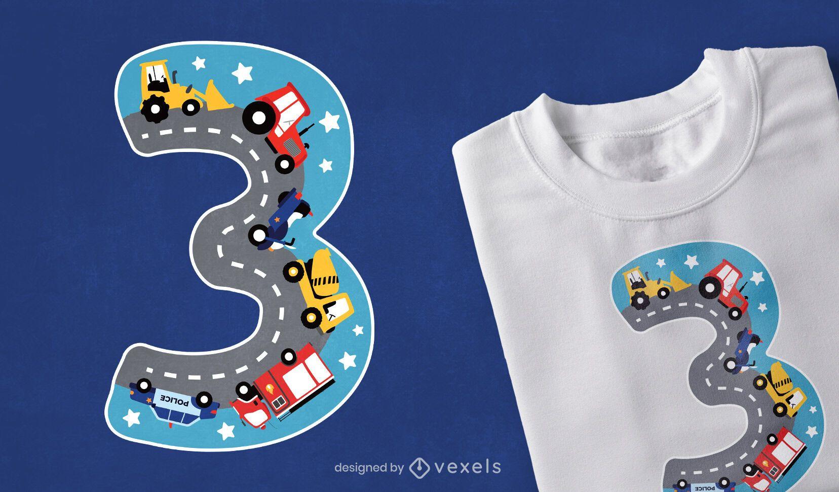 Design de t-shirt número três