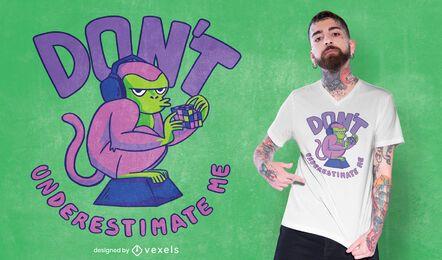 Affe Puzzle T-Shirt Design