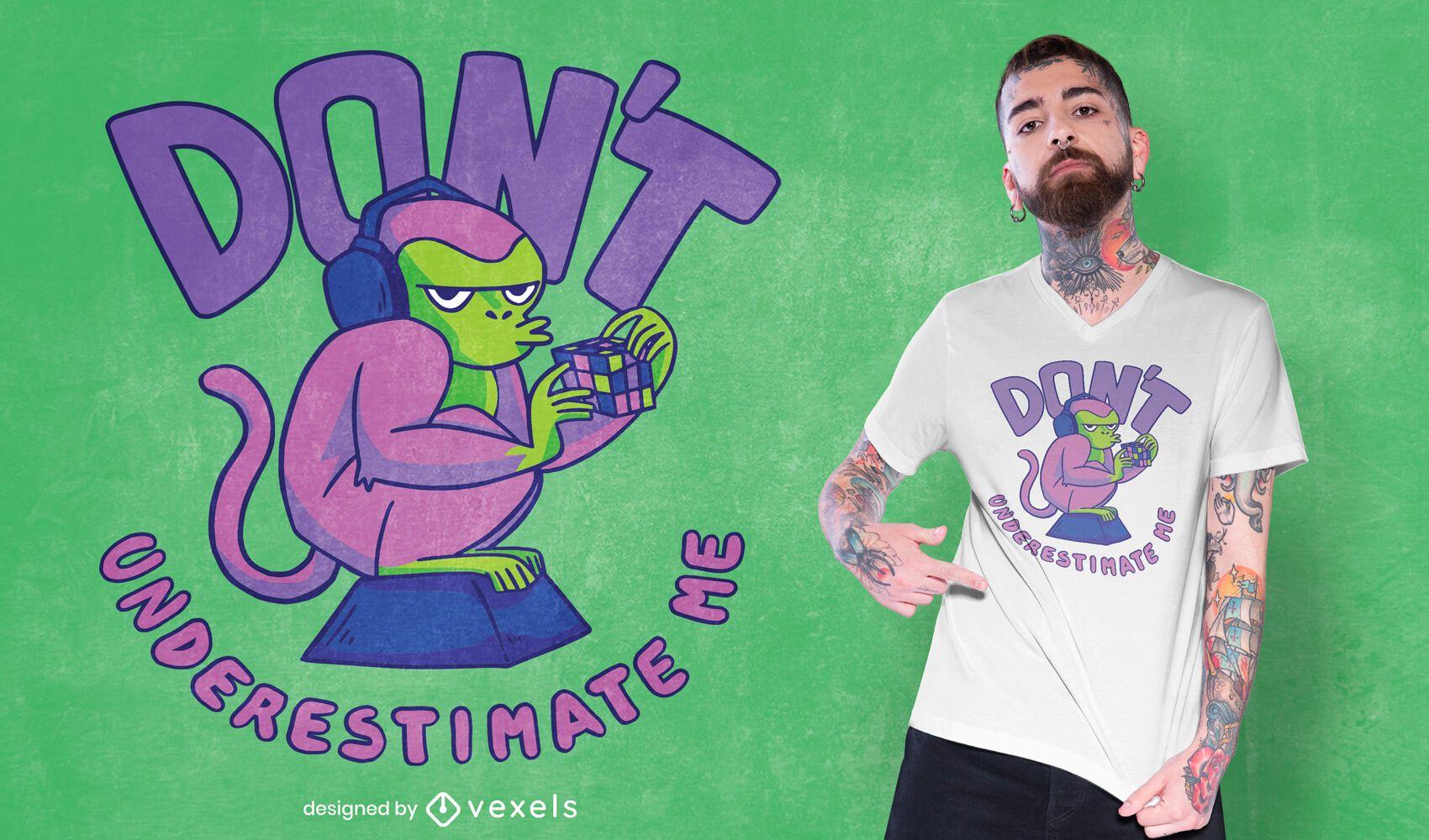 Monkey puzzle t-shirt design