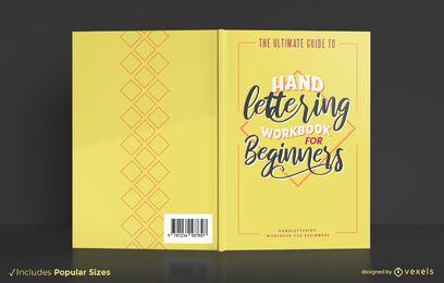 Diseño de portada de libro de letras a mano