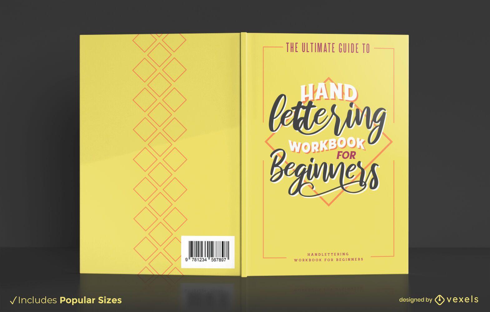 Design de capa de livro de letras à mão
