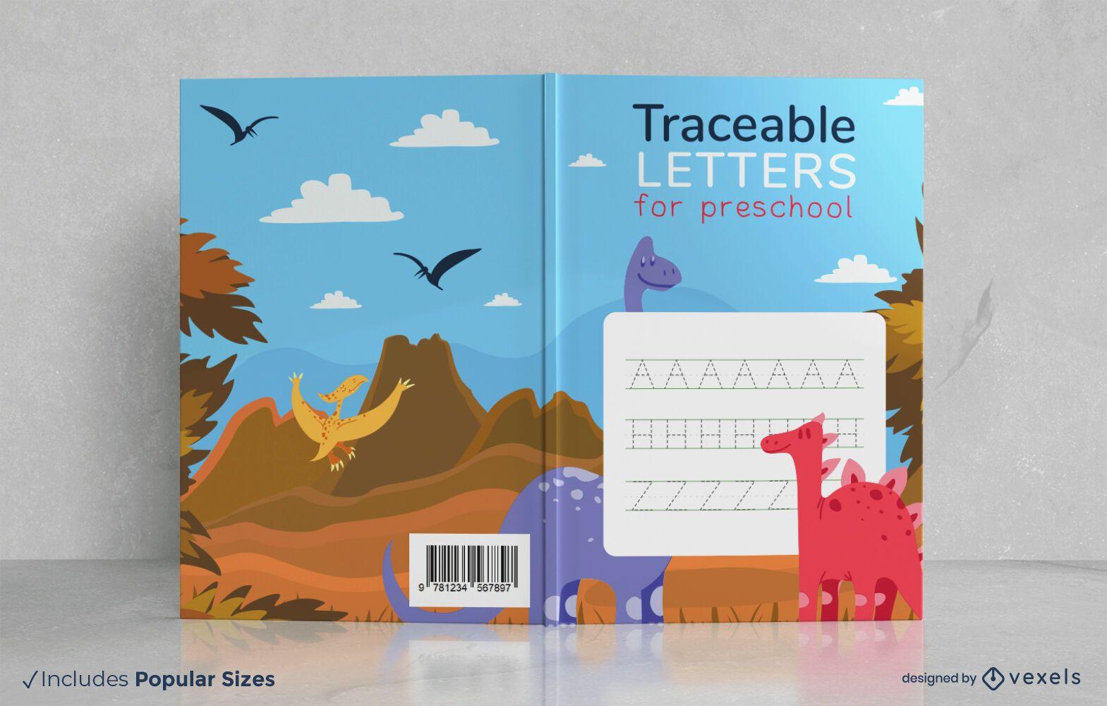 Design da capa do livro com letras rastreáveis
